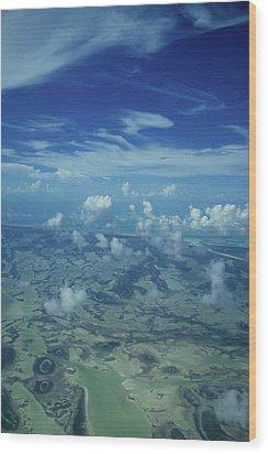 Caribbean Isle Mosaic Wood Print