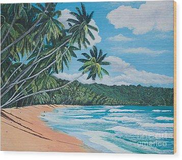 Caribbean Jewel -1 Wood Print