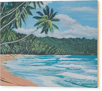 Caribbean Jewel -3 Wood Print