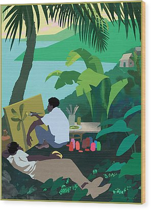 Caribbean Painter Wood Print