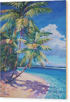 Caribbean Paradise Wood Print by John Clark