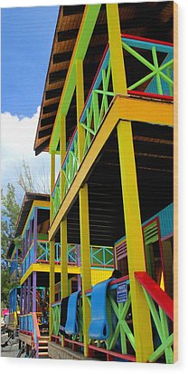 Caribbean Porches Wood Print by Randall Weidner