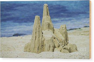 Caribbean Sand Castle  Wood Print by Betty LaRue