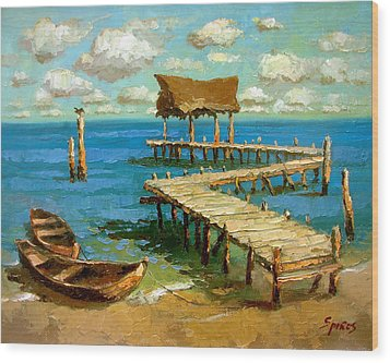Caribbean Sea 2 Wood Print
