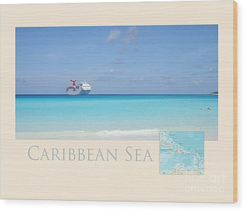 Caribbean Sea Wood Print