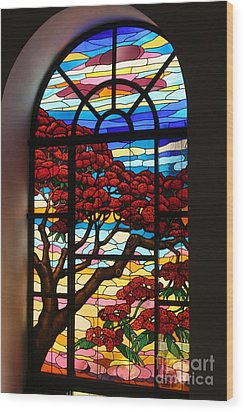 Wood Print featuring the photograph Caribbean Stained Glass  by The Art of Alice Terrill