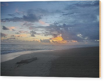 Caribbean Sunrise Wood Print by Mustafa Abdullah