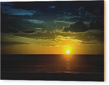 Caribbean Sunset ... Wood Print by Chuck Caramella