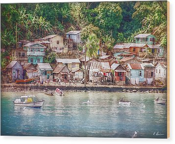 Wood Print featuring the photograph Caribbean Village by Hanny Heim