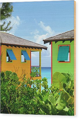 Caribbean Village Wood Print by Randall Weidner