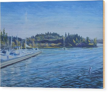 Carilllon Point Marina Wood Print by Charles Smith