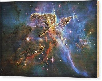 Carina Nebula 6 Wood Print by Jennifer Rondinelli Reilly - Fine Art Photography