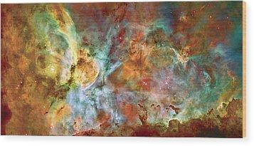 Carina Nebula - Interpretation 1 Wood Print by Jennifer Rondinelli Reilly - Fine Art Photography