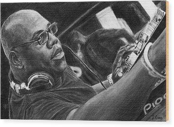 Carl Cox Pencil Drawing Wood Print