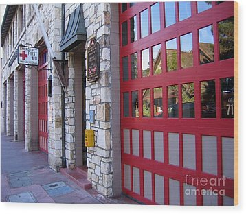 Carmel By The Sea Fire Station Wood Print