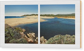 Carmel Lagoon Beach Wood Print by Logan Parsons