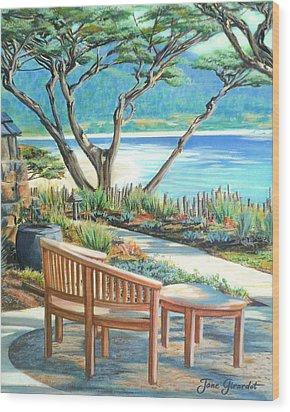 Carmel Lagoon View Wood Print