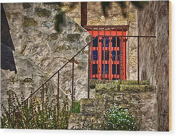 Carmel Mission 10 Wood Print by Ron White