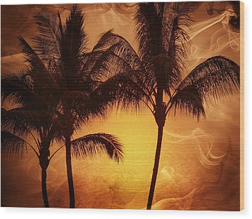 Carmel Sunset Wood Print by Athala Carole Bruckner