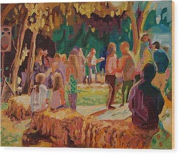 Carmel Valley Hoopla Wood Print by Thomas Bertram POOLE