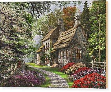 Carnation Cottage Wood Print by Dominic Davison