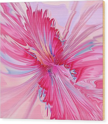 Carnation Pink Wood Print by Anastasiya Malakhova
