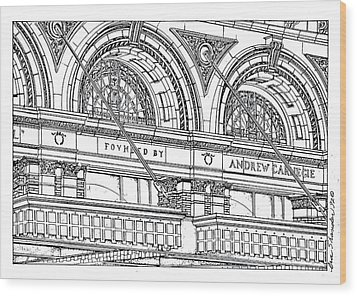 Carnegie Hall Wood Print by Ira Shander