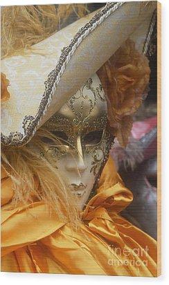 Carnevale Di Venezia 108 Wood Print by Rudi Prott