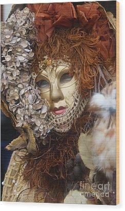 Carnevale Di Venezia 130 Wood Print by Rudi Prott