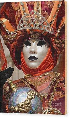 Carnevale Di Venezia 54 Wood Print by Rudi Prott