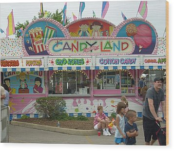 Carnival Candy Land Wood Print by Ann Willmore