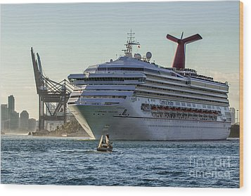 Carnival Cruise Line Destiny Wood Print by Rene Triay Photography