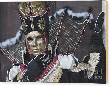 Carnival In Venice 13 Wood Print by Design Remix