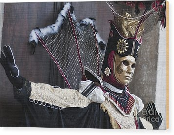 Carnival In Venice 14 Wood Print by Design Remix