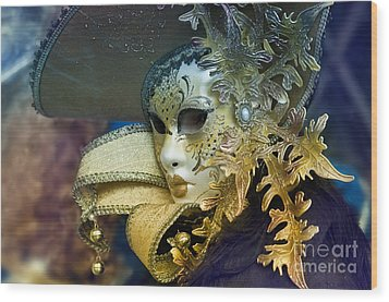 Carnival In Venice 18 Wood Print by Design Remix