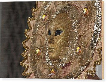 Carnival In Venice 8 Wood Print by Design Remix