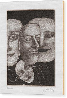 Carnival Wood Print by Joanne Ehrich