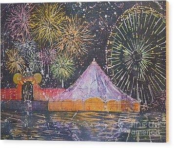 Carnival Magic Wood Print