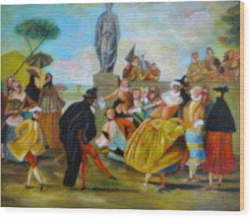 Carnival Of Venice Wood Print