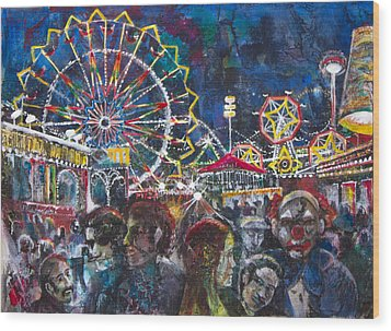 Carnival Wood Print by Patricia Allingham Carlson