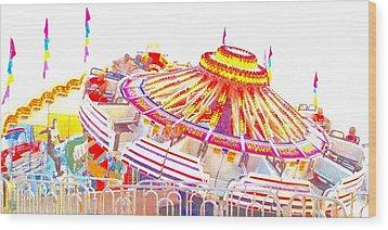 Carnival Sombrero Wood Print