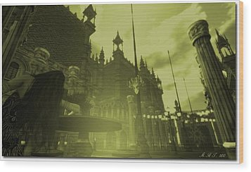 Carnivale - After Absinthe Wood Print
