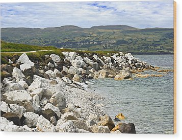 Carnlough Bay Antrim Northern Ireland Wood Print by Jane McIlroy