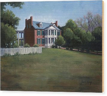 Carnton Plantation In Franklin Tennessee Wood Print by Janet King