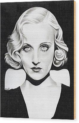Carole Lombard Wood Print