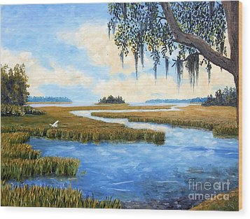 Carolina Colors Wood Print by Stanton Allaben