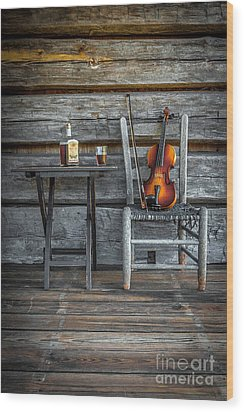 Wood Print featuring the photograph Carolina Fiddl'n by Marion Johnson
