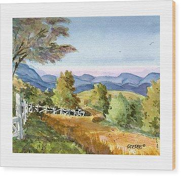 Carolina Piedmont High Meadow Wood Print