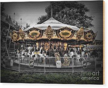 Carousel 1 Wood Print