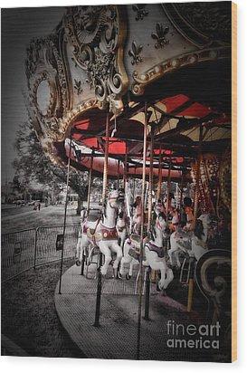 Carousel 2 Wood Print